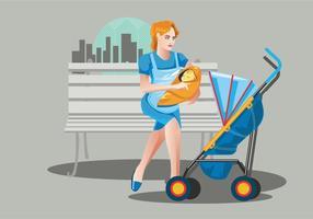 Babysitter Vektor Hintergrund