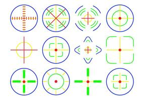 Free Neon Crosshair Icon Vektor