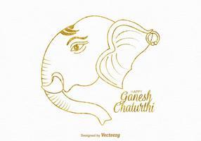 Kostenlose Happy Ganesh Chaturthi Vektor-Karte vektor