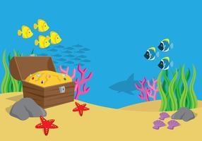 Havslandskap vektor