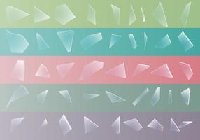 Zerbrechen des zerbrochenen Glas-Sets vektor