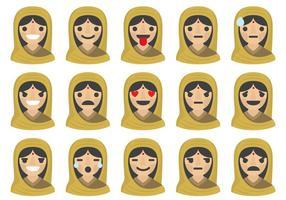 Indische frau emoticons
