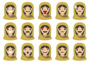 Indiska Kvinna Emoticons