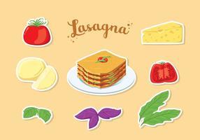 Kostenlose Lasagne Vektor