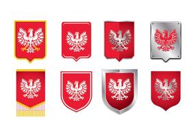 Nationale Arme von Amerika Polen Eagle vektor