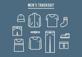 Männer Trainingsanzug vektor