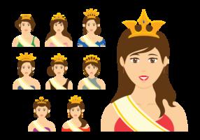 Festzug Königin Vektor