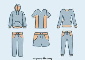 Handgezeichneter Trainingsanzug Vector Set