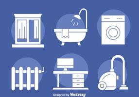 Home Appliance weiß Icons Vektor