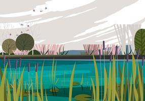 Ruhiger Morgen Sumpf