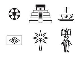 Brasilianska ikoner vektor