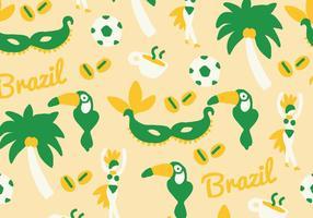 Grön & Gul Brasilien Vektor