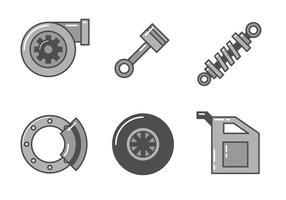 Freie Auto Teile Vektor