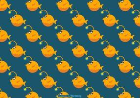 Free Cartoon Angler Fisch Vektor Hintergrund