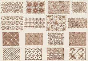 Brown Toile Texturen vektor