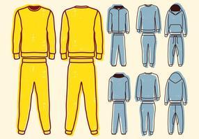 Blank Sweat Anzug vektor