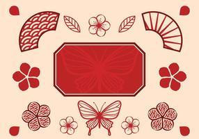 Gratis kinesisk bröllopsvektor vektor