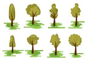 Free Verschiedene Art von Baum Vektor