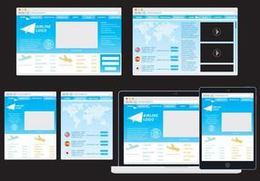 Airline adaptive web vektor