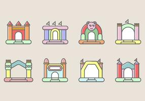Bounce House-Symbol vektor