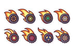 Burnout hjul vektor pack