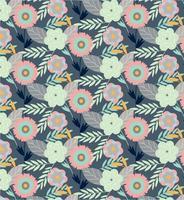 Blumenpflanzen Vektor Muster