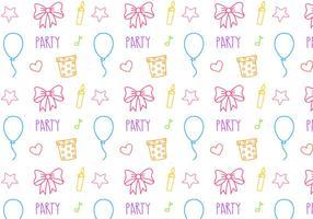 Gratis födelsedagsfest mönster vektor