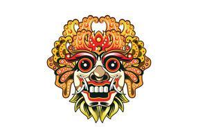 Detaillierte Barong Maske Vektor