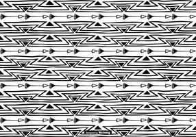 Handdragen Boho Style Pattern Bakgrund