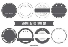 Blank Vintage Abzeichen Formen vektor