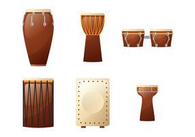 Afrikanska trummor illustration