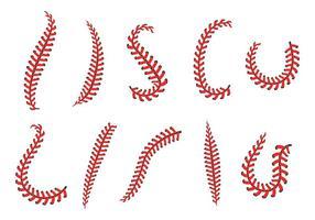 Kostenlose Baseball Schnürsenkel Symbole Vektor