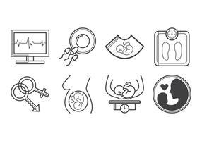 Kostenlose Schwangerschaft Icon Vektor