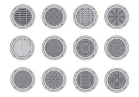 Free Manhole Cover Vektor