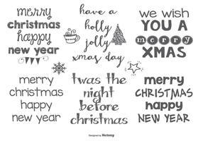 Hand gezeichneten Stil Weihnachten Lables