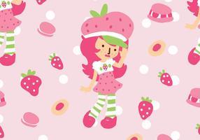 Erdbeer-Shortcake-Muster vektor