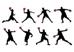 Silhuett av Dodge Ball Player vektor