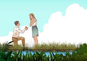 Heirate mich Vorschlag Vektor