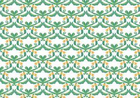 Grön blommig vektor vattenfärg bakgrund