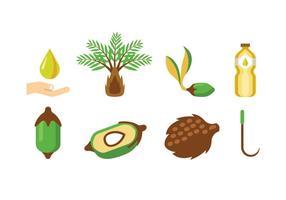 Palmöl-Vektoren vektor