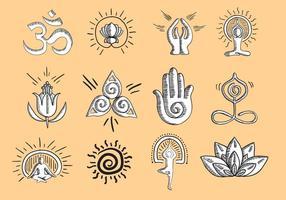 Vektor-Yoga-Symbol vektor