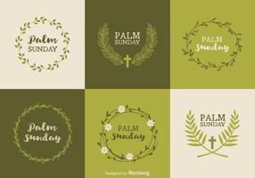 Free palm sunday vektor entwürfe