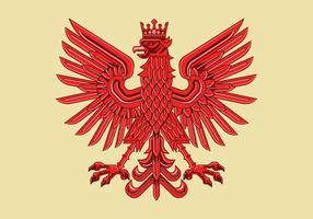 Art Deco Zeichnung von Amazing Polish Coat of Arm Vektor