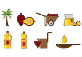 Set von Palmöl Icons vektor