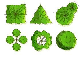 Träd toppar vektorer