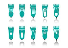 Haarschneider Geräte Symbole vektor