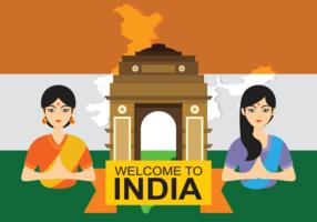 Indien-Tor-vektorabbildung