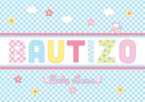 Gratis Bautizo Scrapbook Vector Card