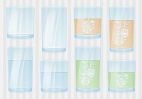 Gläser mit Flüssigkeit vektor