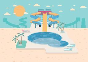 Wasser Slide Vektor
